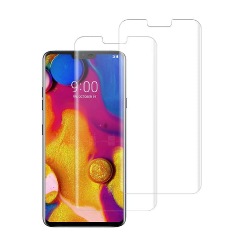 (LG V40) Shatterproof 3D Curve Screen Guard (2 Pack)