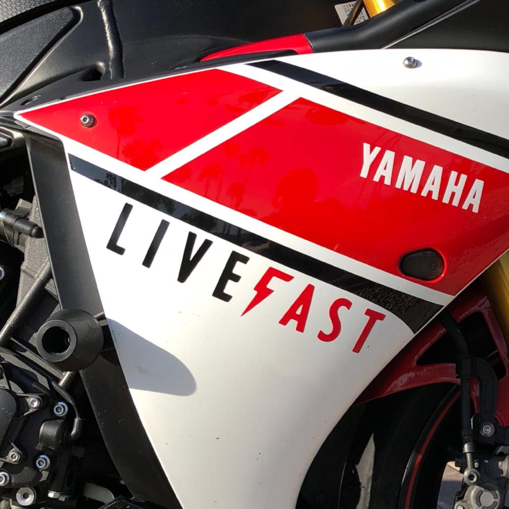 "10"" Live Fast Bolt Logo Sticker"