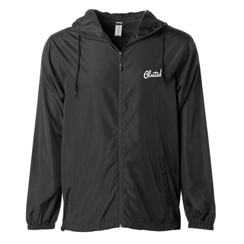 Clutch Black Lightweight Windbreaker Jacket