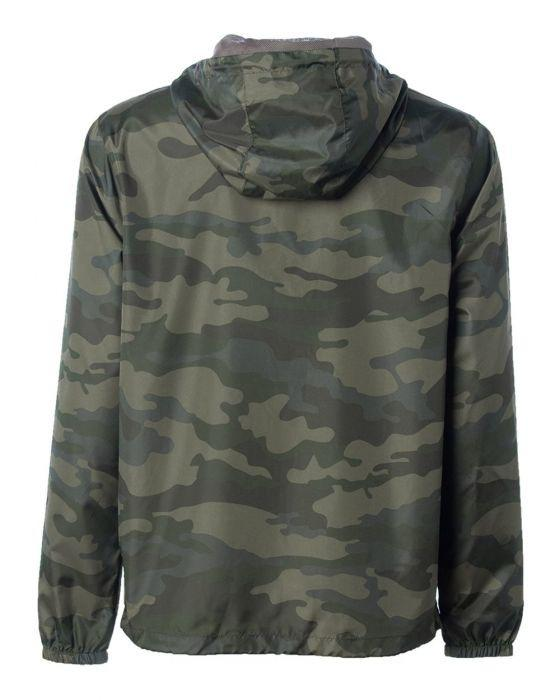 Clutch Full Camouflage Lightweight Windbreaker Jacket