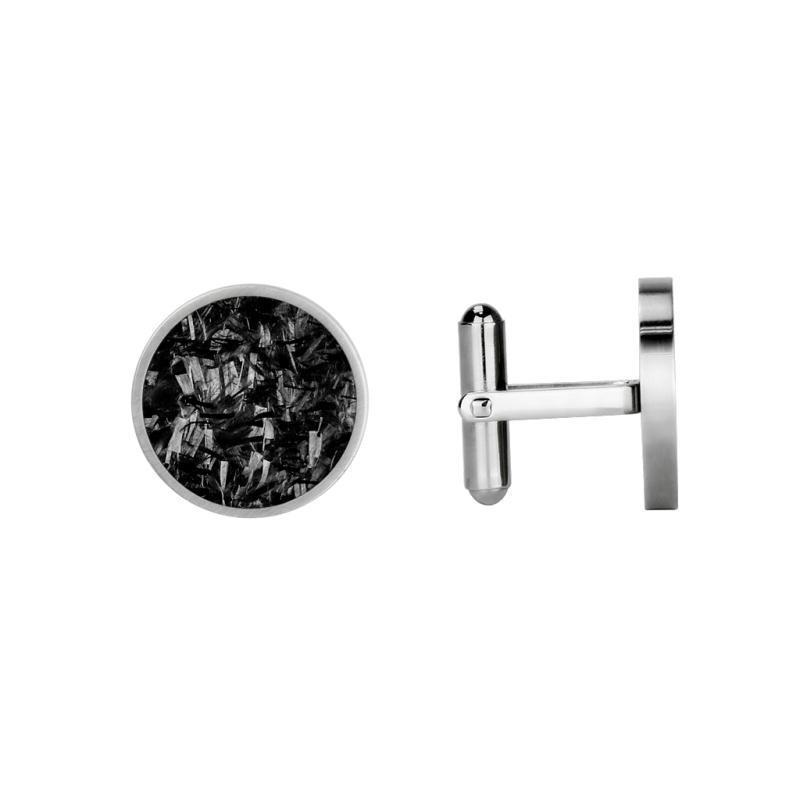 Real Forged Carbon Fiber Cufflinks