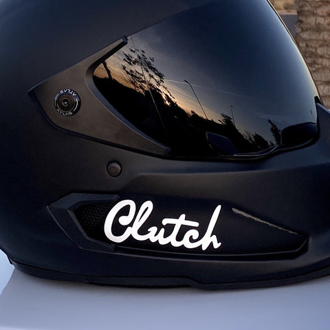 "3"" Clutch Logo Sticker (White)"