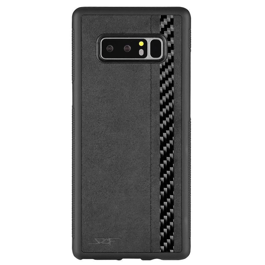 Samsung Note 8 Alcantara & Real Carbon Fiber Case | CLASSIC Series
