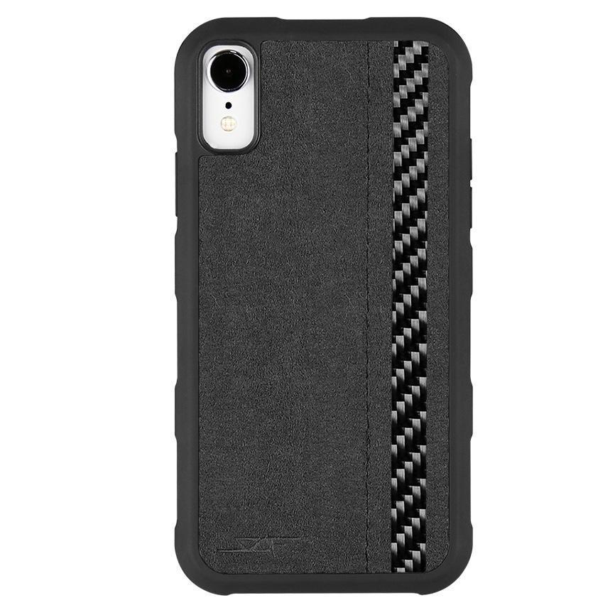 iPhone XR Alcantara & Real Carbon Case