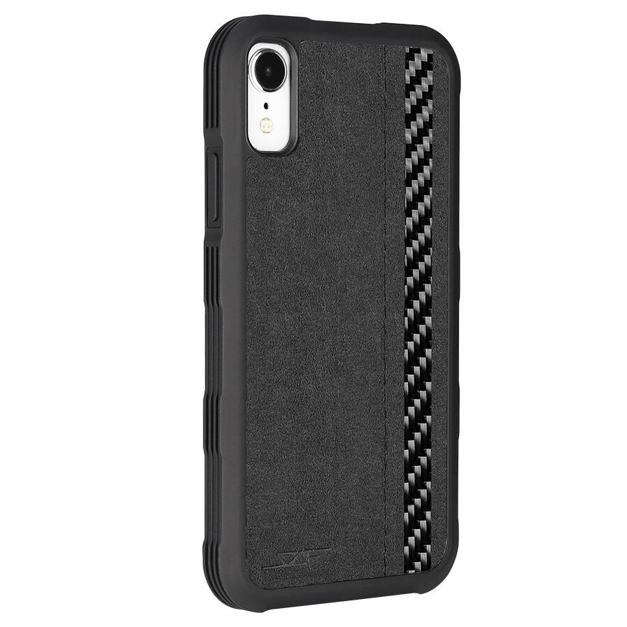 iPhone XR Alcantara & Real Carbon Fiber Case | ARMOR Series
