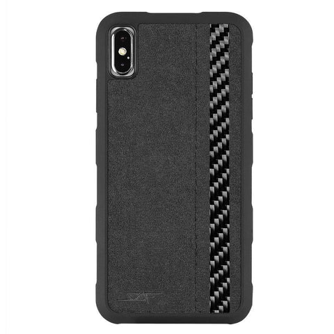 iPhone XS Max Alcantara & Real Carbon Case