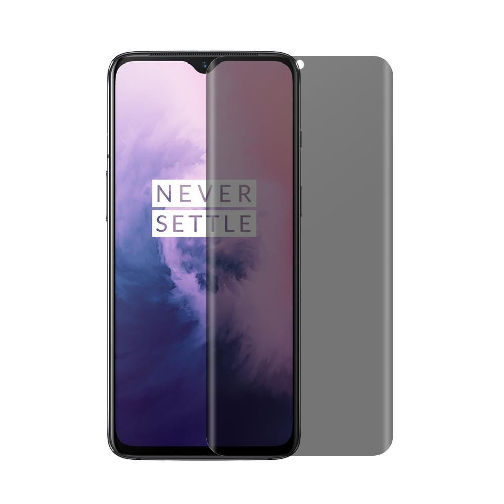 (OnePlus 7) Shatterproof 3D Curve Screen Guard (Privacy Edition)