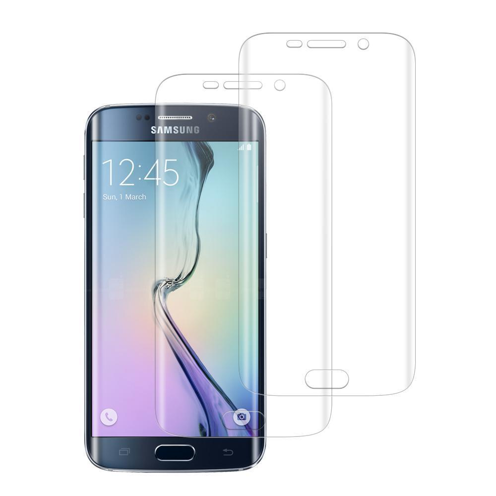 (S6 EDGE) Shatterproof 3D Curve Screen Guard (2 Pack)