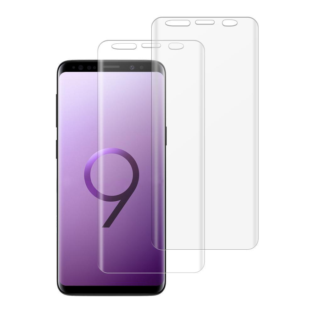 (S9+) Shatterproof 3D Curve Screen Guard (2 Pack)