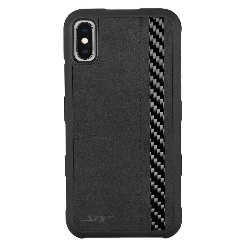 iPhone X & XS Alcantara & Real Carbon Case