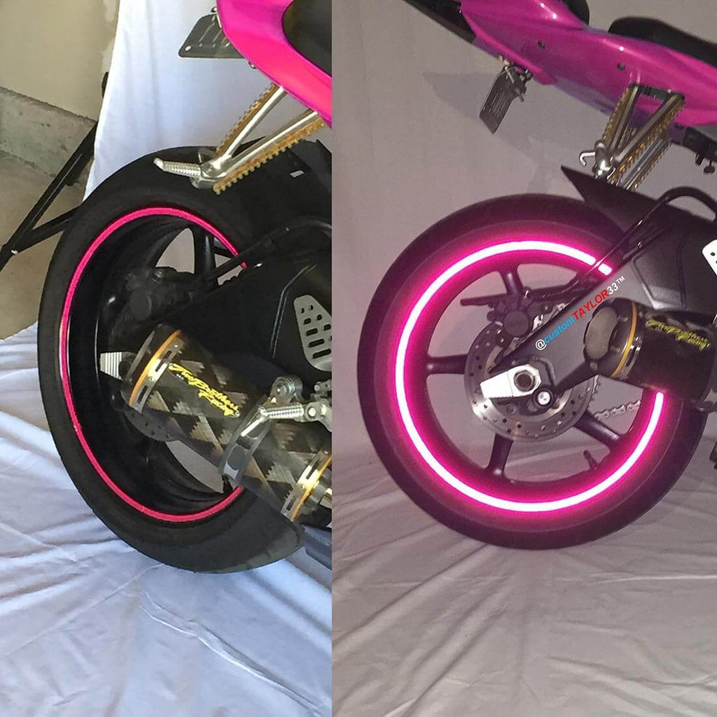 *Special Edition Color* Hot Pink High Intensity Rim Tape 17""