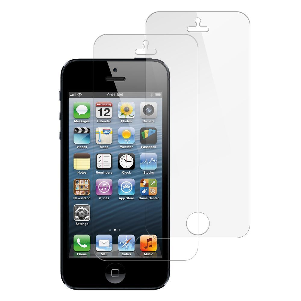 (iPhone 5/5s/5SE) Shatterproof Screen Guard (2 Pack)