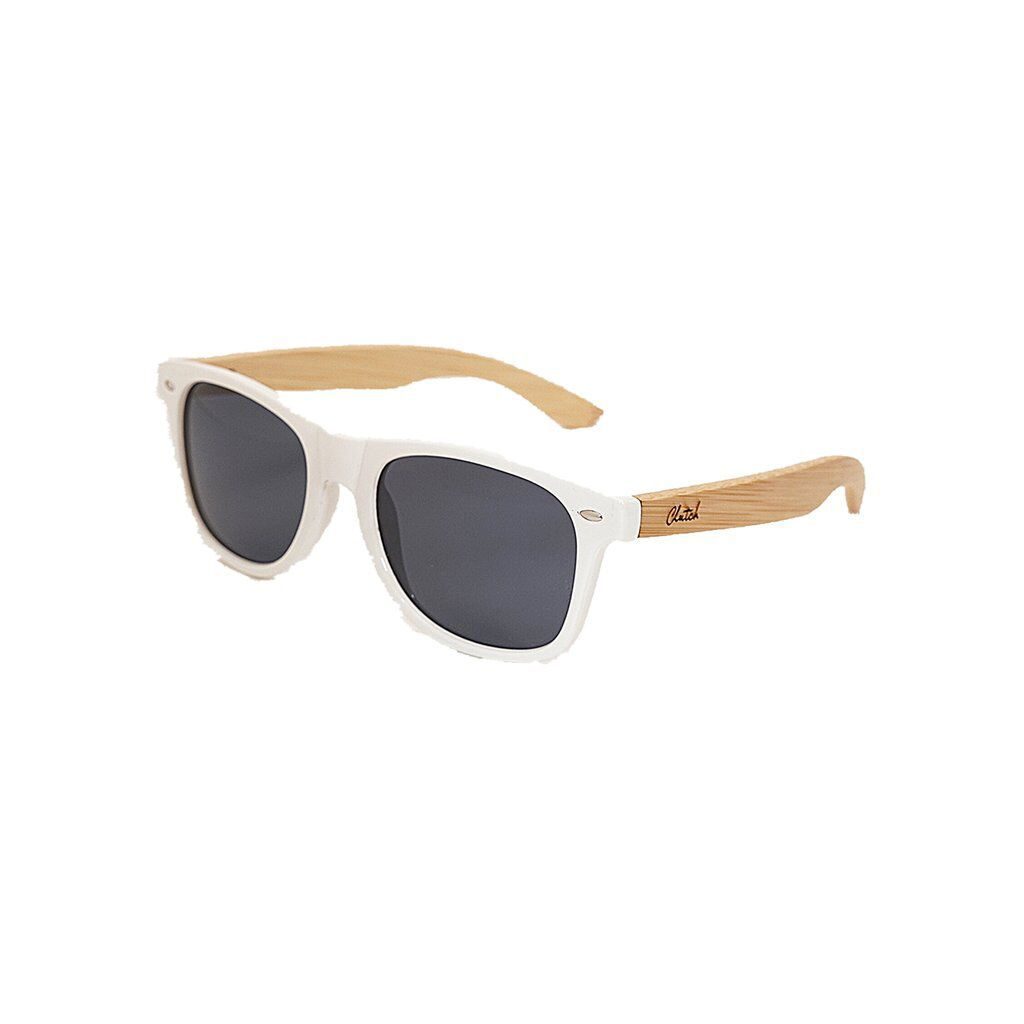 Clutch White Sunglasses