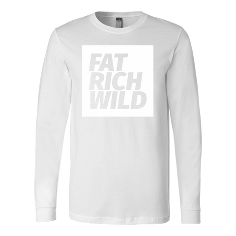 FAT RICH WILD WHITEOUT LONG SLEEVE T-SHIRT