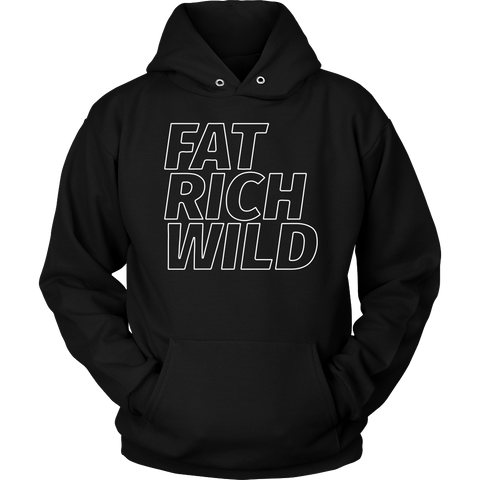 FAT RICH WILD OUTLINE PULLOVER HOODIE