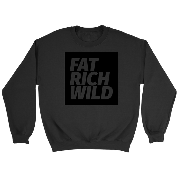 FAT RICH WILD BLACKOUT CREWNECK SWEATER