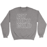FAT RICH WILD OUTLINE CREWNECK SWEATER