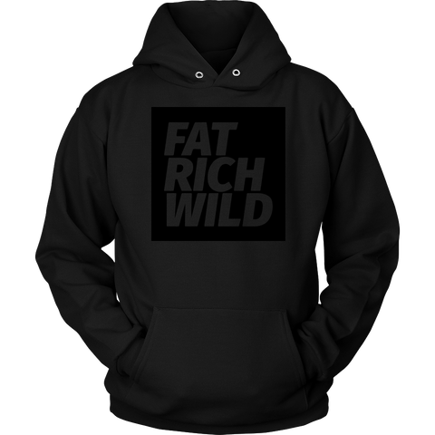 FAT RICH WILD BLACKOUT PULLOVER HOODIE