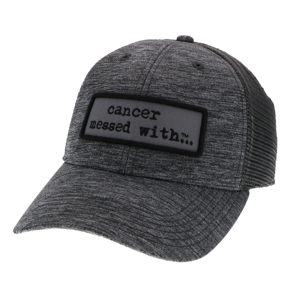 Cancer Messed With Trucker Hat - Grey/Grey