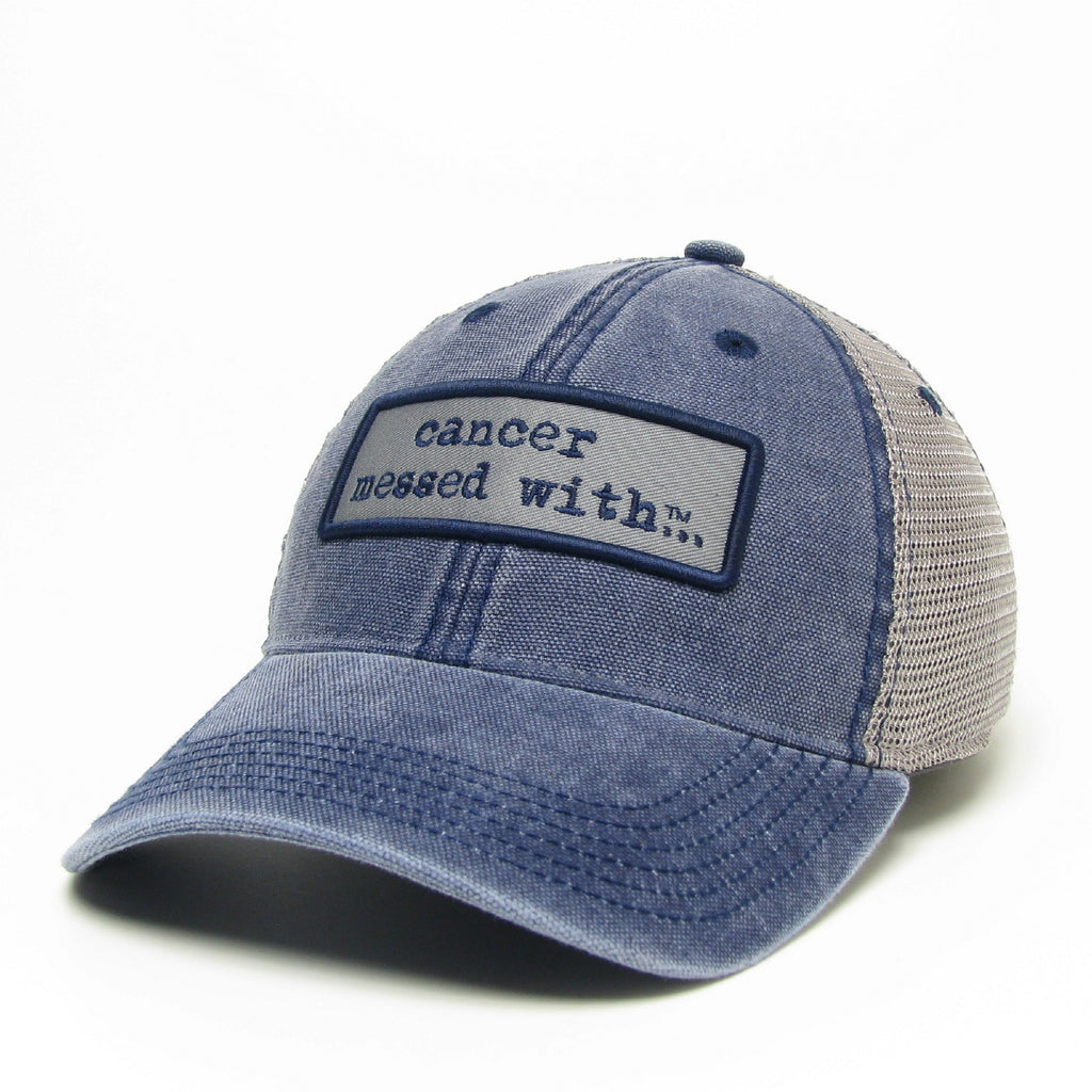 b68bcb0c6c2 Cancer Messed With Hat - Vintage Navy – CancerMessedWith.com