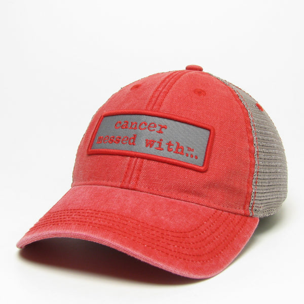 Cancer Messed With Hat - Vintage Scarlet
