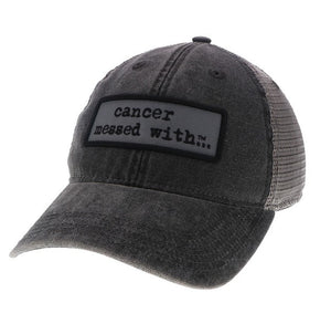 Cancer Messed With Hat - Black