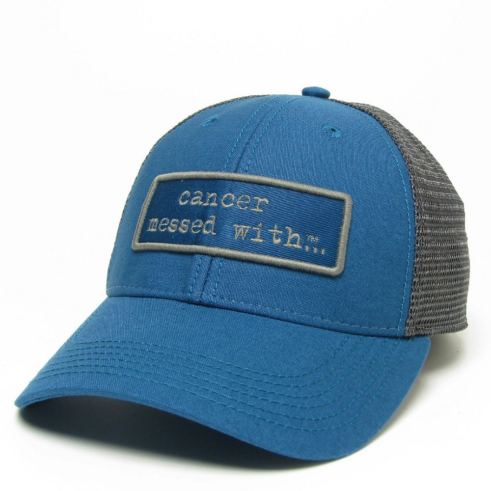 Cancer Messed With Trucker Hat - Marine Blue