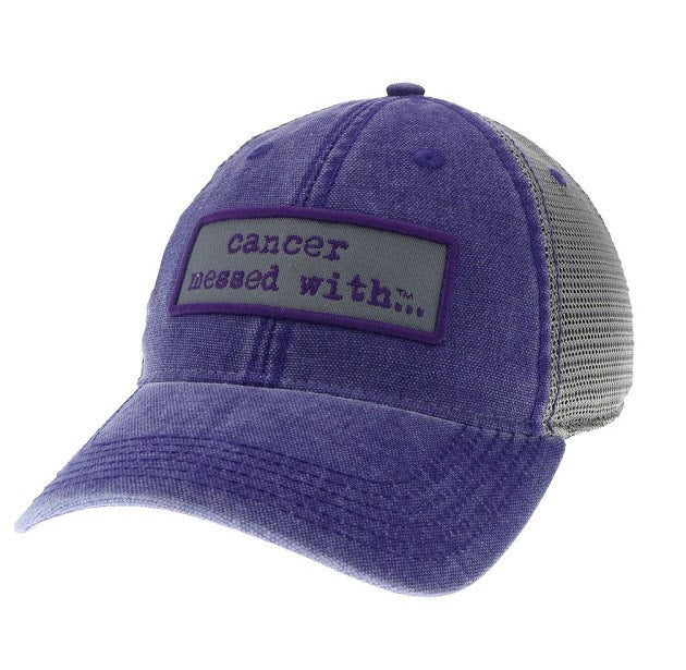 Cancer Messed With Hat - Bright Purple