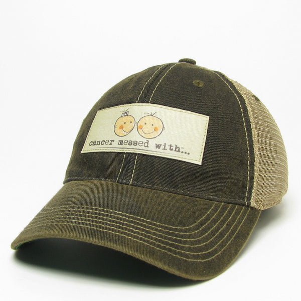 Cancer Messed With Hat - Vintage Black