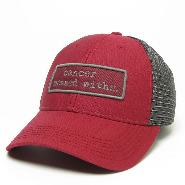 33407816c38 Cancer Messed With Trucker Hat - Burgundy