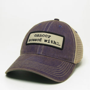 Cancer Messed With Hat - Purple Patch
