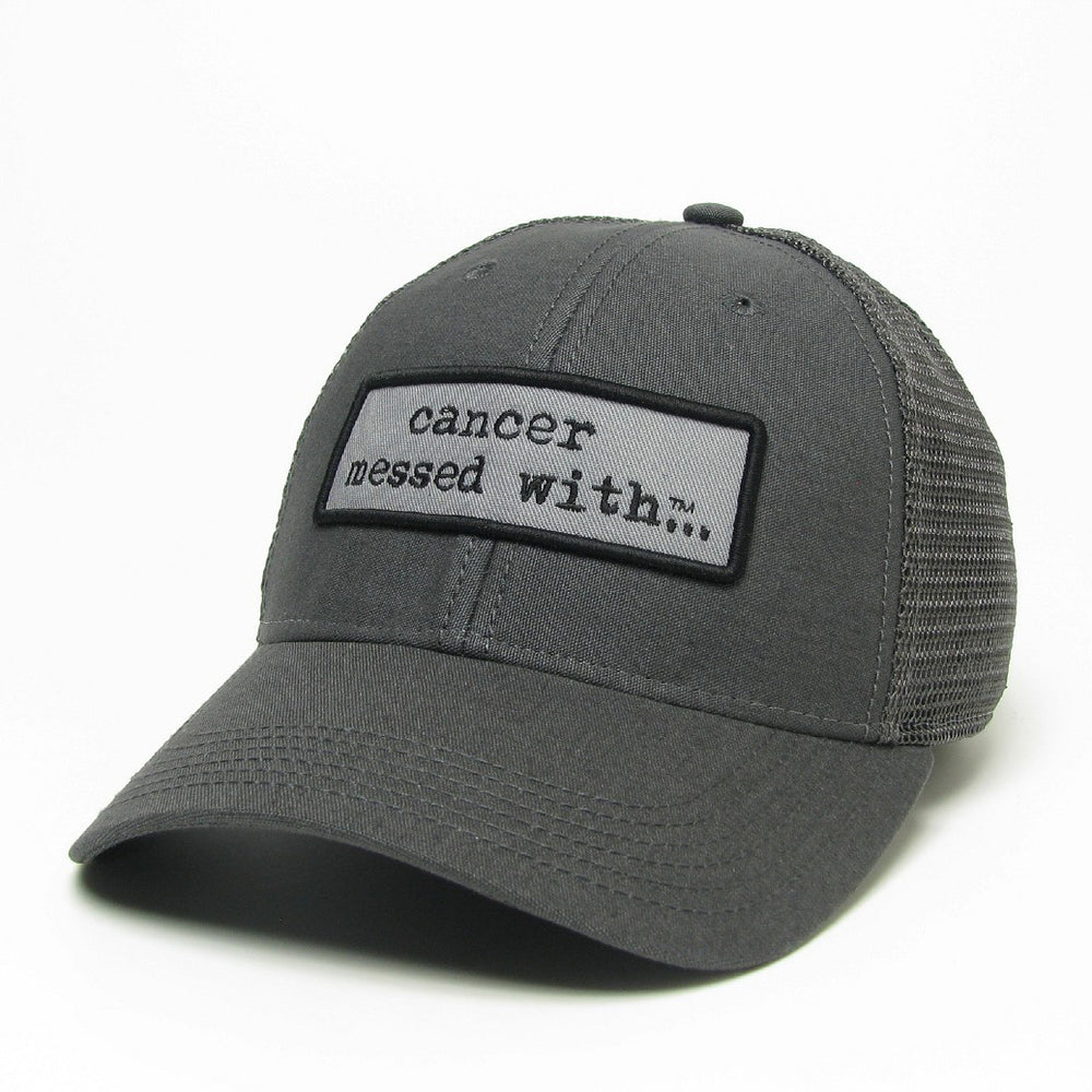 Cancer Messed With Trucker Hat - Grey