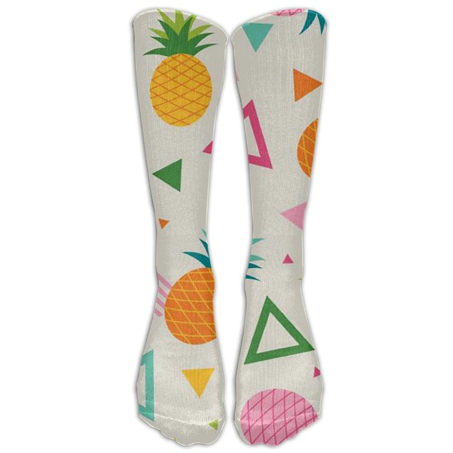 3175f0bfd Funky Shapes Pineapple Knee Socks