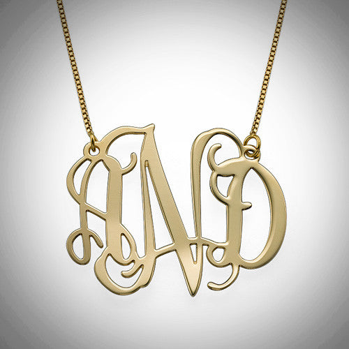 Full Gold Monogram 1 10kt