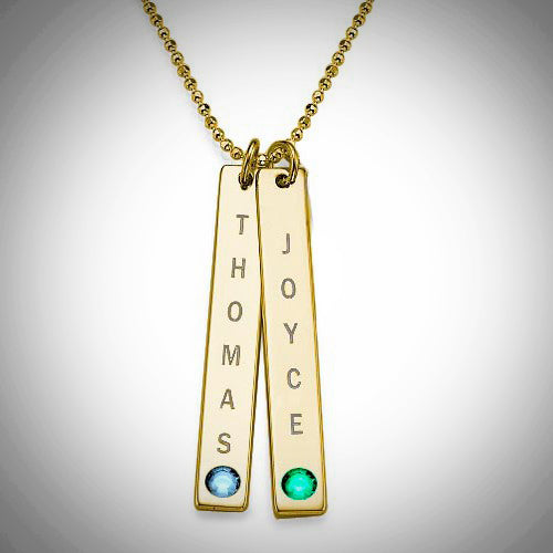 MDAY Vertical Bars with Birthstone