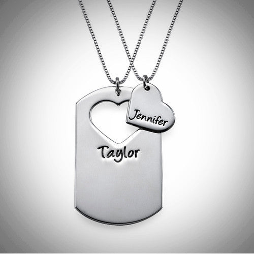 VDAY Couple Dog Tag