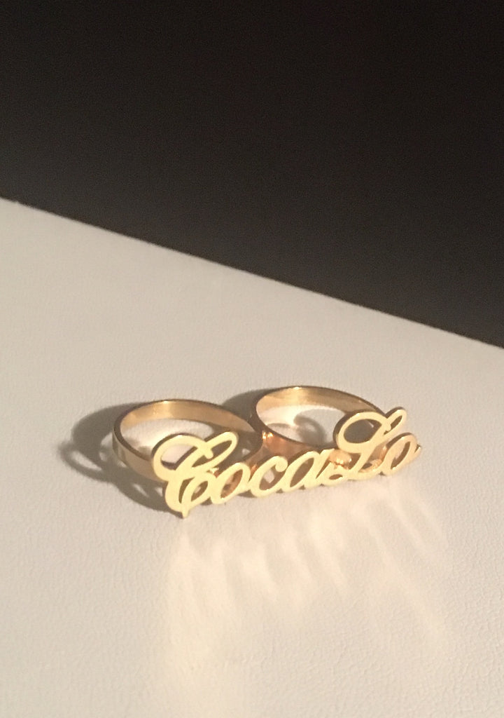 DBY9 BDAY Sale 2 X Name Ring