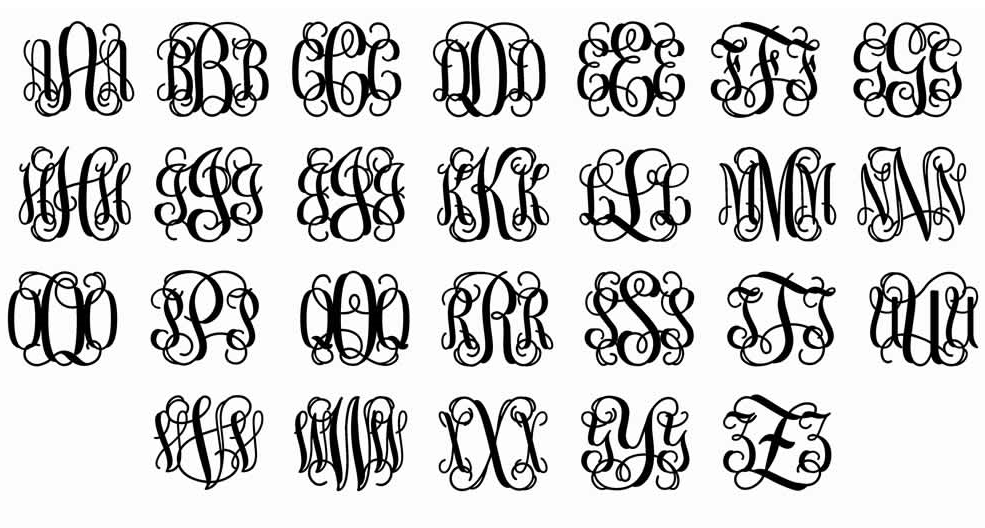 NEW YEAR 21-Monogram Cursive 1