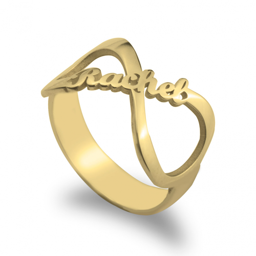 VDAY Infinity Name Ring