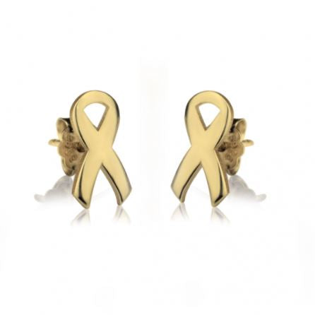 Breast Cancer Ribbon Earring Studs