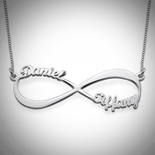 VDAY Infinity 2 Name Necklace