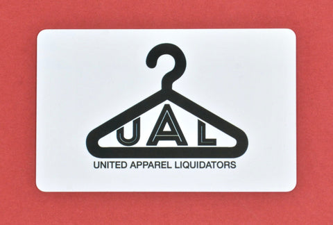 Gift Card for UAL Online Store - Discounts on United Apparel Liquidators at UAL