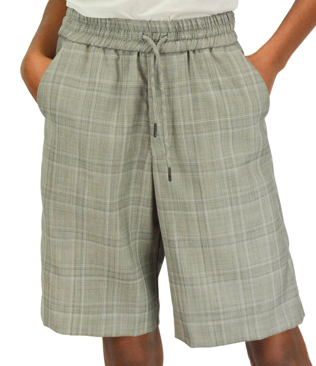 R13 Grey Plaid Slip-On Baggy Shorts - Discounts on R13 at UAL