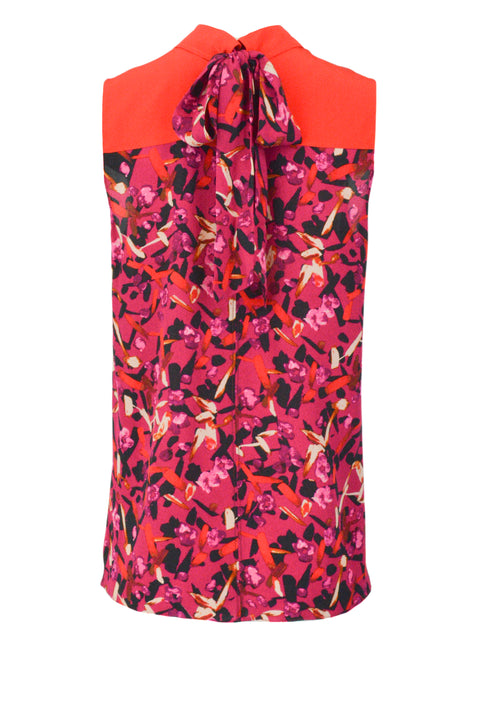 Gucci Logo Print Silk Tie Neck Blouse - Discounts on Gucci at UAL