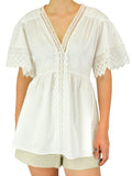Ulla Johnson Nessa Cotton Lace Shirt Dress