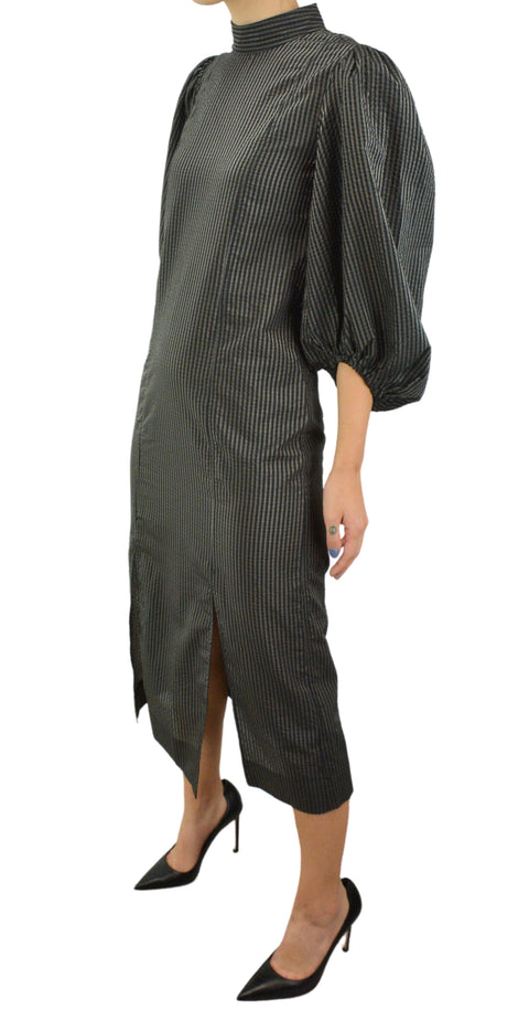 Sportmax Giuda Cutout Striped Ribbed Knit Dress - Discounts on Sportmax at UAL