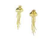 Mallarino Gold Charm Fishy Hoop Earrings - Discounts on Mallarino at UAL