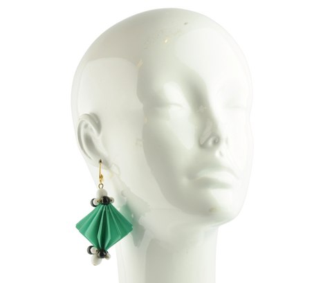 Marni Plastic Film Earrings in Mint - Discounts on Marni at UAL