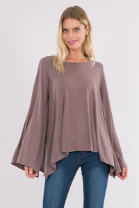 Poncho Sleeve Cupro Top