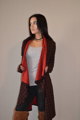 Cardigan Jacket Suede Elbow Patches